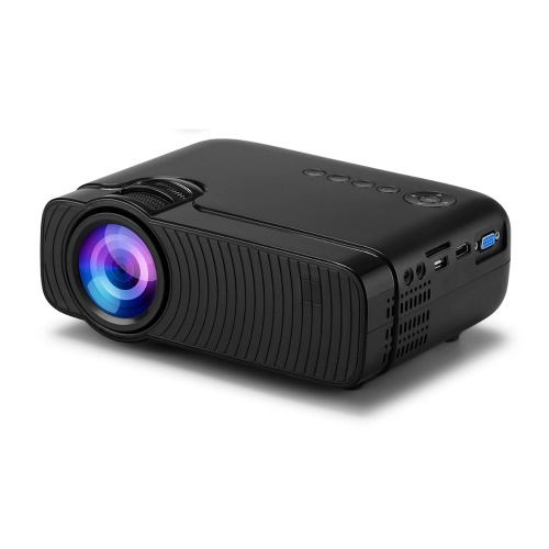 Мини-светодиодный проектор Поддерживаемый 1080P 3500 люкс 50 000 часов Срок службы лампы 236-дюймовый дисплей Портативный кинопроектор Встроенный динамик с интерфейсом AV / USB / HD / VGA / SD-картой / аудиовыходом для домашнего кинотеатра Развлечение видео