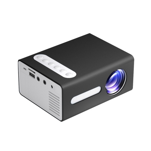 T300 Household LED Projector Mini Portable Projection Device with Short-focus Optical Len TFT LCD Display 320*240 Resolution