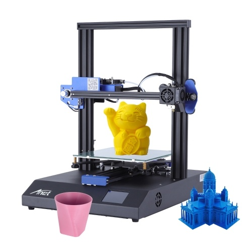 Original Anet ET4X FDM 3D Printer Kit All Full Metal Frame 2.8 Inch Color Touchscreen Support Resume Printing Filament Run Out Detection 220*220*250mm Build Volume with 8GB TF Card 10m PLA Filament for Home and School Use