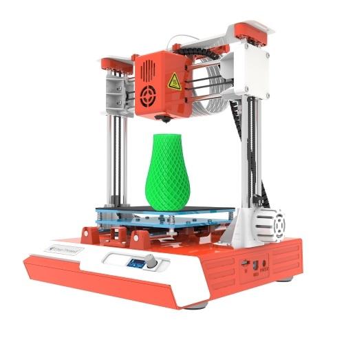 Настольный детский 3D-принтер EasyThreed Mini 100x100x100 мм Размер печати Высокая точность беззвучная печать с ЖК-экраном TF-карта Образец нити из PLA для детей Новички Творчество Образовательный подарок