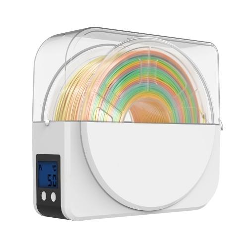 Aibecy 3D stampante filamento essiccatore scatola porta bobina 35-55 ℃ temperatura regolabile con display LCD da 2 pollici funzione timer per filamento 1,75 / 2,85 / 3,00 mm