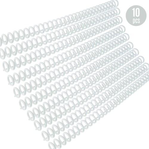 KW-trio 10pcs Plástico 30 Folhas Buracos de Folhas Soltas Anel Encadernação Espinhos Pentes