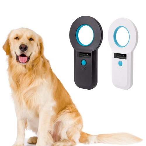 Animal Microchip Pet Tag Scanner ID Reader RFID EMID Animal Handheld Reader USB Connect 128 Informat