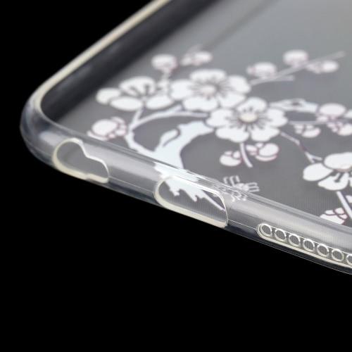 MOOKE Luxury Ultra-thin Rhinestone Bling TPU Super Flexible Clear Back Shell Case Cover for 6 Plus/ 6S Plus 5.5