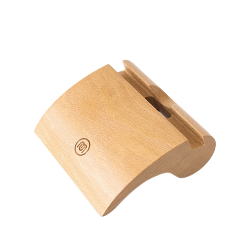 Meki elegante portatile a forma di coma in legno di faggio ecologico materiale anti-skid telefono supporto tablet supporto dock station culla per iPhone iPad tablet smartphone