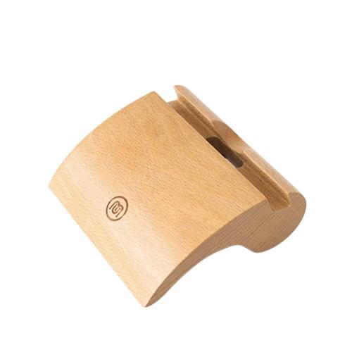Meki Élégant Portable Comma-en forme de Hêtre En Bois Écologique Matériel Anti-dérapant Téléphone Tablet Stand Titulaire Dock Station Berceau pour iPhone iPad Comprimés Smartphones