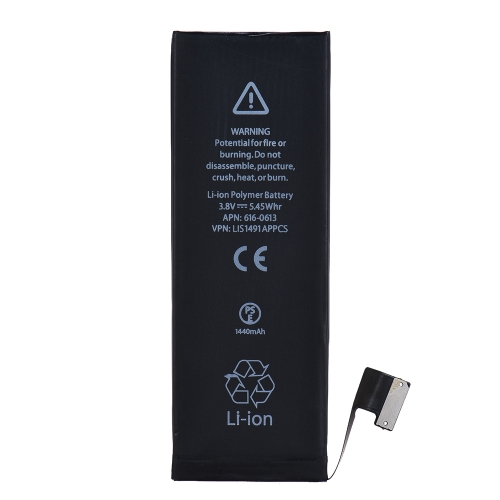 Batterie de relacement de téléphone de capacité élevée pour la batterie au lithium intégrée de téléphone portable de l'iPhone 5 1440mAh 3.8V