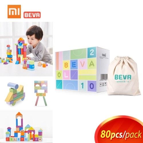 Xiaomi Beva Bambini Building Blocks Robot giocattolo per bambini Mattoni Designer Giocattoli educativi precoce Bambini Regalo di compleanno 80pcs / lot
