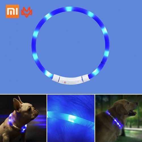 Xiaomi Youpin LED Dog Collar Glowing USB Rechargeable Pet Dog Collar For Night Safety Fashion Light Up Collar For Small Medium Large Dogs