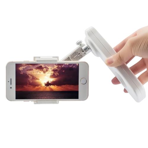 X-CAMセルフセルフスキー2軸ハンドヘルドスタビライザー回転可能スタンド携帯電話iPhone 7 8プラスサムスンS8のホルダーで調整可能なマウント