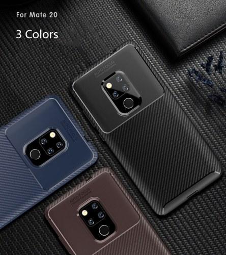 Чехол для телефона из углеродного волокна ТПУ Защитная крышка телефона Простой Легкий протектор мобильного телефона для HUAWEI Mate 20 фото