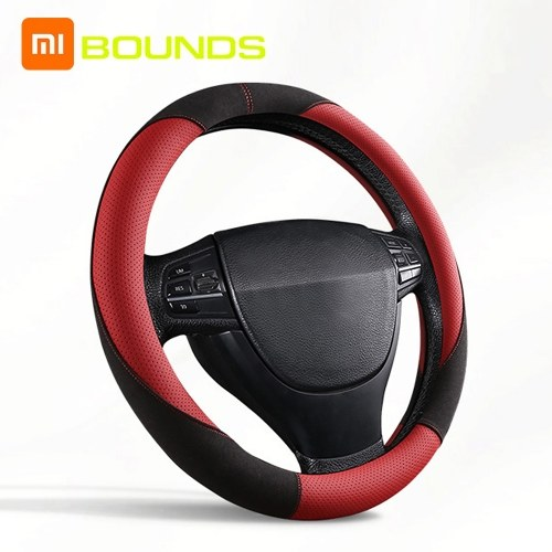 Xiaomi Youpin BOUNDS Sports Steering Wheel Cover Skidproof Auto Steering-wheel Braid Anti-Slip Universal Embossing Leather Car-styling