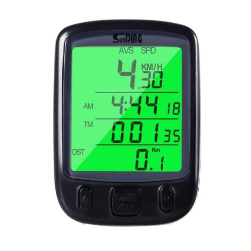バック自転車自転車バイクLCDコンピュータ走行距離計スピードメーター