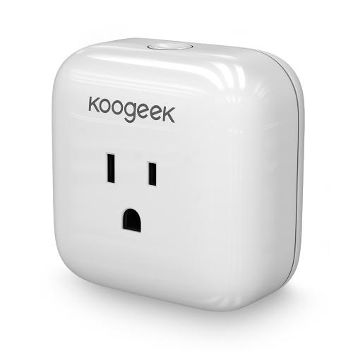 Koogeek Accueil Smart Plug Wi-Fi activé avec la consommation d'Apple HomeKit Technology Support contrôle Siri Electronics Energy Monitor de Partout US Plug Blanc