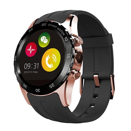 KW08 2 G GSM スマート時計電話 1.22 インチ 240 * 204pixel SMS Anti-lost 歩数計心の評価の MTK6260 ブルートゥース 4.0 スポーツ スマートウォッチ NFC 腕時計手無料