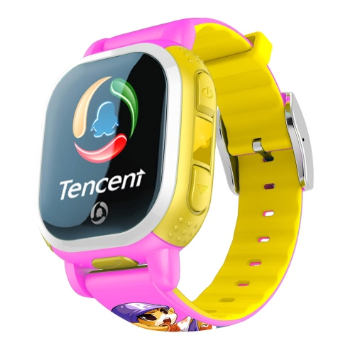 Versão Americana Tencent PQ708 QQWatch 2G GSM IP65 Water-reisitant Kids Smart Watch Telefone Mini GPS LBS localizador Tracker 1.22 polegadas 2.5D colorida tela de toque MTK6260D para iPhone 6 6S 6 Plus 6S Plus Samsung S6 S6 borda S7 S7 borda HTC LG Smartphone SOS Emergency WiFi Pedometer Smart Mobile App Fashion Durable para Android 4.0 iOS 7.0 ou superior