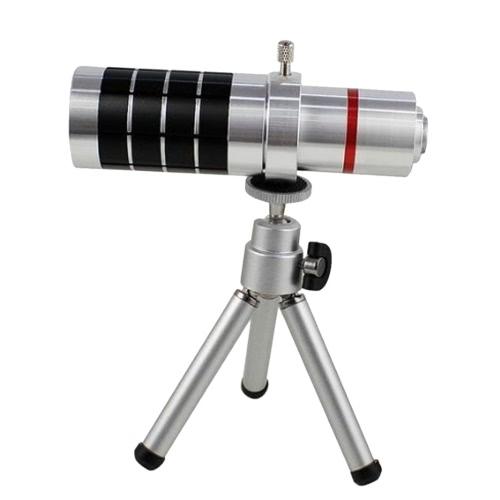 universal 18x zoom phone telephoto camera lens with mini tripod