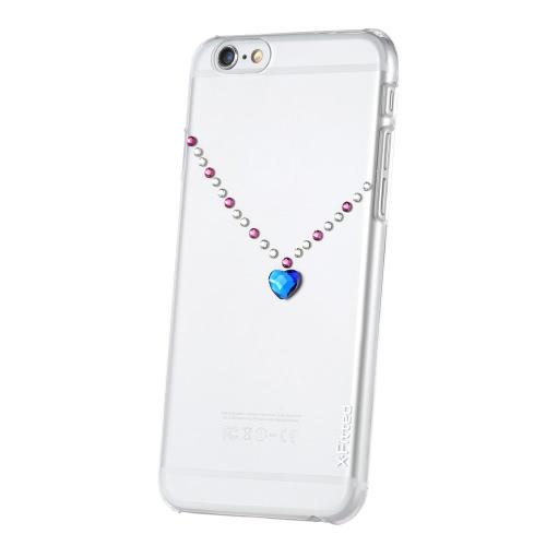 Оригинальные X-Fitted роскошь защитный ясно обратно пластины бампер телефона оболочки жесткий чехол с Swarovski стразы покрытие дизайн для iPhone 6 6S 4,7 дюйма