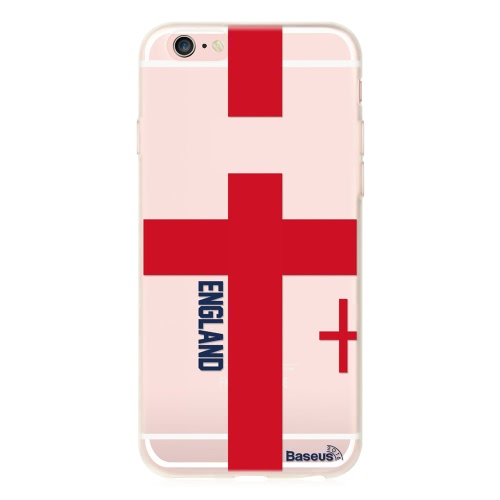 Base... TPU telefono caso Sport Europe UK / Francia / Spagna / Germania / Italia Calcio Football Fans coperchio protettivo Shell per iPhone 5,5 pollici 6 più 6S più Eco-friendly materiale elegante portatile ultrasottile anti graffio anti-polvere durevole