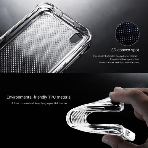 Original UMi 360 graus Proteja tampa traseira escudo protetor de alta qualidade Soft Case para Umi London Smartphone