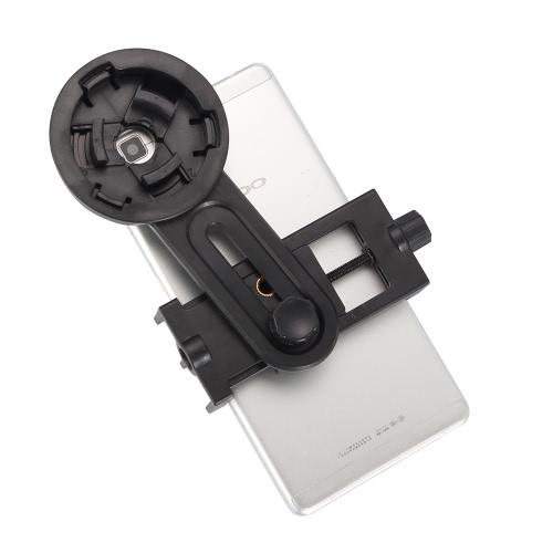 KKmoon ajustável Universal Phone Holder Suporte clipe para 55-98mm Largura Smartphone 26.4-46.4mm Diâmetro telescópio monocular