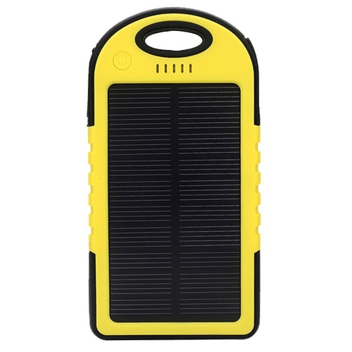 4000mAh Solar Energy Panel Charger Podświetlenie LED Podwójne porty USB Duża pojemność Akumulator Wodoodporna, odporna na wstrząsy Non Slip Power Bank Przenośna ładowarka do Smartphone Camping