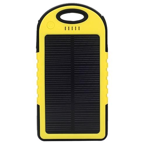 4000mAh太陽エネルギーパネル充電器LEDライト二重USBポート大容量充電式防水ショックプルーフノンスリップパワーバンクスマートフォンキャンプ用ポータブル充電器