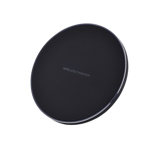 Portable Qi Wireless Charger Charging Pad Universal Fast Phone Charge Base Ultra Thin Round Shape for Samsung Galaxy S8/S8+/S7/S7 Edge/S6 Edge+/Note 5/Note 8/Note FE and Other Qi-enabled Smart Phones