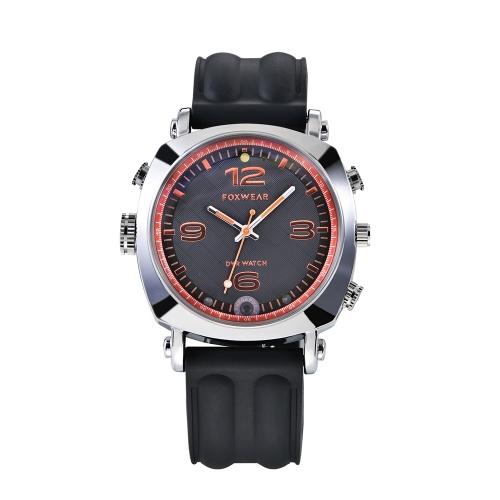 FOXWEAR Relógio de pulso Gravador multifuncional Watch DVR Smartwatch 720P HD Smart Watch WiFi Controle remoto Gravação de vídeo Fotografando a versão da noite Built-in Floodlight para telefones Android IOS