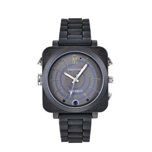FOXWEAR Relógio de pulso DVR Smartwatch Monitor remoto WiFi 720P Câmera HD Relógio inteligente Relógio de noite Gravação de vídeo Fotografando gravador multifuncional Relógio lanterna LED incorporada para telefones Android IOS