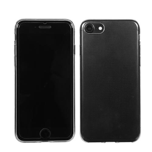 Caixa de telefone suave e transparente Tampa durável TPU ultra-fina Tampa de absorção de choque Anti-Scratch Crystal Clear Capa protetora de proteção total 360 ° para iPhone 7 Plus / iPhone 8 Plus