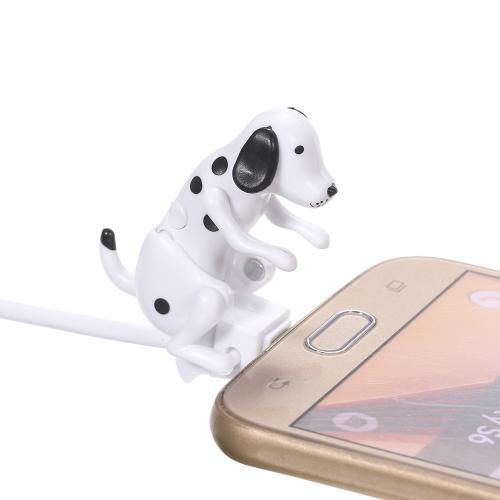 Portable Funny Cute Pet USB Cable Mini Humping Spot Dog Toy Gadget Charger Natal para telefone Micro-USB