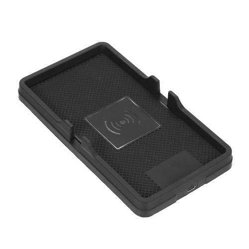 Antypoślizgowa podkładka silikonowa Mat Qi Bezprzewodowa ładowarka samochodowa Deska rozdzielcza Uchwyt na telefon Mata Szybkie ładowanie dla iPhone X / 8 Plus / 8 i Samsung Galaxy S8 / S8 + / S7 / S7 Krawędzi / S6 Edge + / Uwaga 5 / Uwaga 8 i Inne Smartfon z obsługą Qi