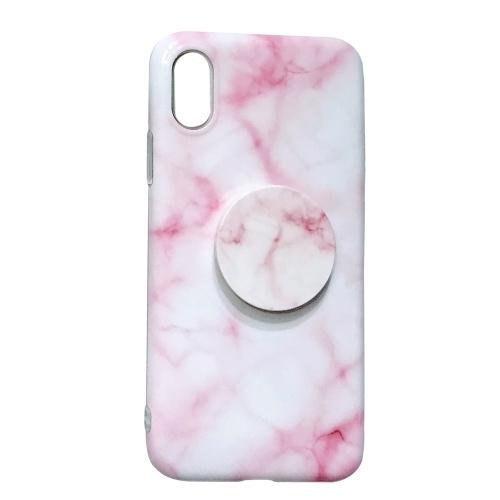 Мраморный покрашенный мягкий чехол TPU для Iphone с расширяющимся держателем стойки Смартфон Protetive Back Cover