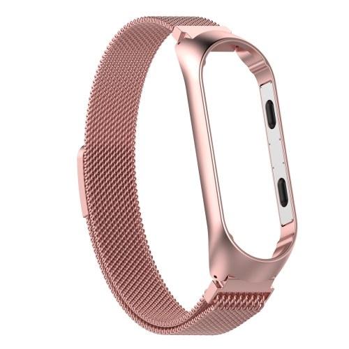 Metallband für xiaomi mi band 3 mi smart armband schraubenlose armbänder ersetzen handschlaufe