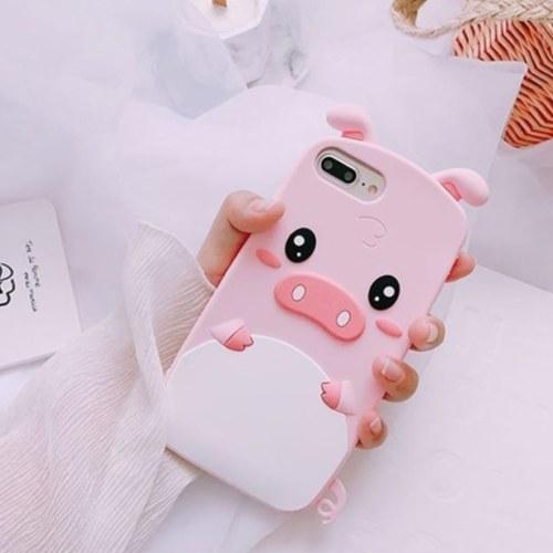 3D Cartoon Cute Pig Phone funda