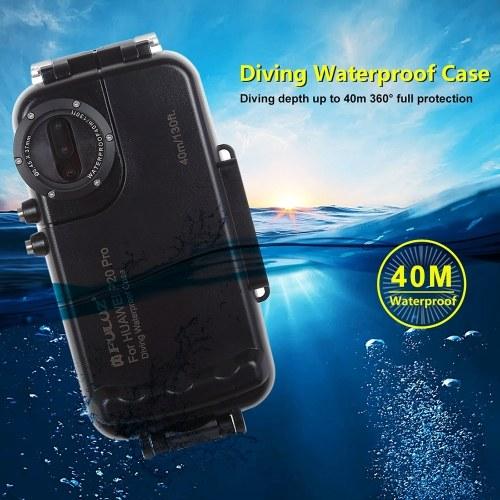 PULUZ 40м / 130ft Дайвинг Водонепроницаемый чехол Защитный чехол для смартфона Подводный корпус Чехол Противоударный 360 ° Полная защита для Huawei P20 / Huawei P20 Pro / Huawei Mate 20 Pro фото