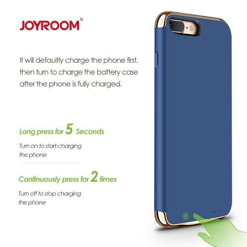 Joyroom Bat-tery Case Portable External Rechargeable Charger Cover Backup Power Charging Case for i-Phone 7/7 Plus