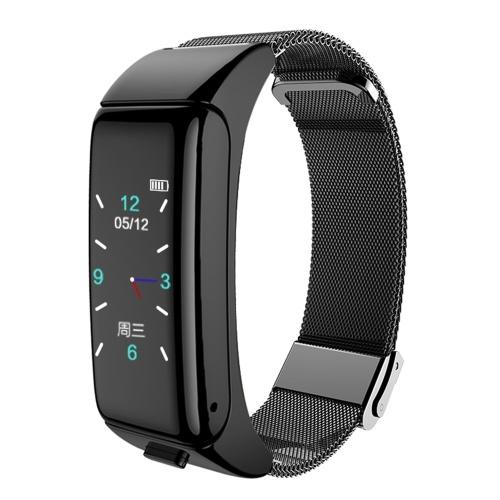 2-in-1-Headset-Uhr BT4.0 Intelligenter Armband-Farbbildschirm Erinnerung an Vibrationsnummer Gesunde Überwachung