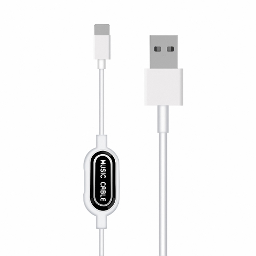 Lightning Charging & Data Cable con Lightning Headset Jack per iPhone X 8 8 Plus 7 Plus Sync con riproduzione musicale e trasferimento dati Transimission