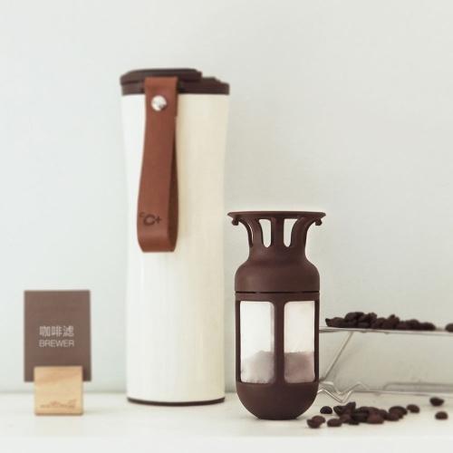 Kuss Kuss Fisch Wiederverwendbare Kaffeefilter Arbeit mit Xiaomi S-U45W 430ML Isolierflasche LED Temperatursensor Thermobecher