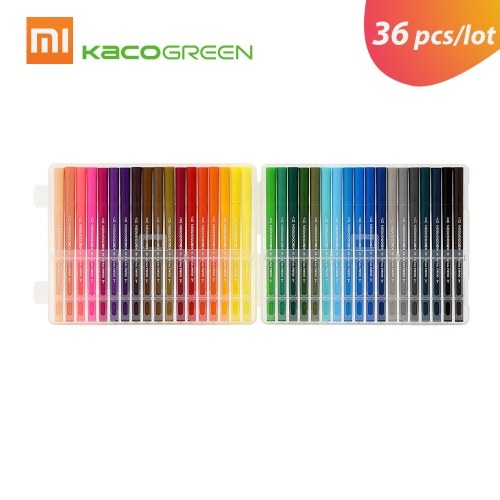 Xiaomi KACO 36 Colors Watercolor Pens Double Tip Watercolor Pens Painting Graffiti Art Markers Drawing Writing Pen Non-toxic Safe Children Gift for Office Student
