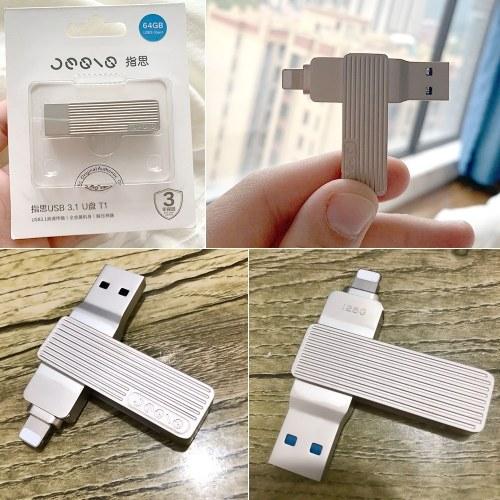 Jessis U Disk 64GB Recorder Lightning Dual USB Flash Drive M1