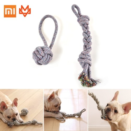 Xiaomi Youpin Pet Dog Rope Toy Flosses Teeth and Teething Clean Aggressive Chewers For All Dog Promotes Proper Chewing  Indestructible Dog Chew Toys Tough Nature Cotton 10*35CM