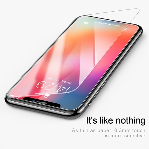 Xiaomi Baseus 0.3mm Full-screen Curved Steel Film anti-slip Screen Protector Protective Glass Transparent Compatible for iPhone X XS 5.8inch SGAPIPHX-ESB02 фото