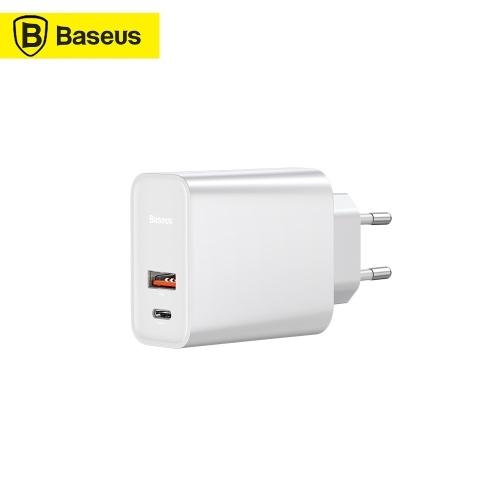 Xiaomi Baseus Speed Dual QC3.0 Быстрое зарядное устройство USB + USB Dual USB-порты 30 Вт ЕС Plug PD3.0 Быстрое зарядное устройство для путешествий 100-240 В Для Apple Samsung Huawei Xiaomi
