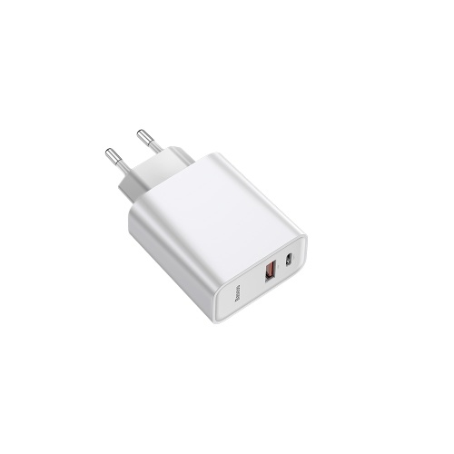 Xiaomi Baseus Speed Dual QC3.0 Quick Charger Type-C+USB Ports 30W EU Plug PD3.0 Travel Fast Charger 100-240V For Apple Samsung Huawei Xiaomi