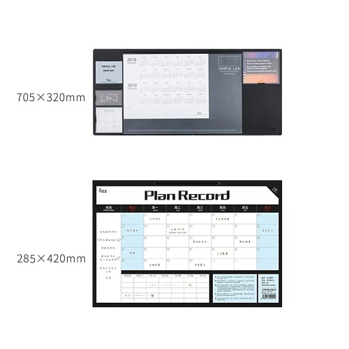 Youpin Fizz Time Management Notepad With Table Mat Efficiency Manual Weekly Tear Sticky Notes Desktop Memo Plan Memo Tracking Punch