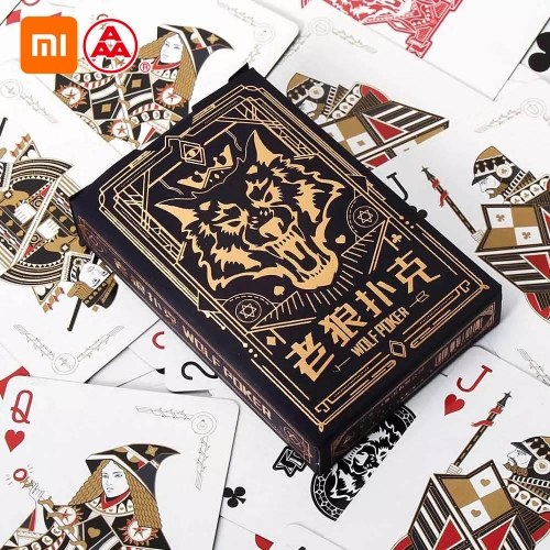 Xiaomi Youpin Three A Playing Cards Poker Board Game Werewolf Game Playing Cards Table Games Indoor Family Party Gathering Game Cards Best Gift for Children 55Pcs Cards