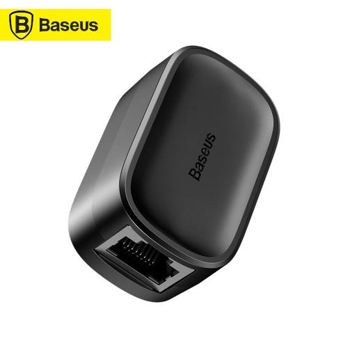 Baseus RJ45-Anschluss Ethernet-Kabeladapter LAN-Kabelverlängerungsteiler für Internetkabelverbindung Buchse zu Buchse